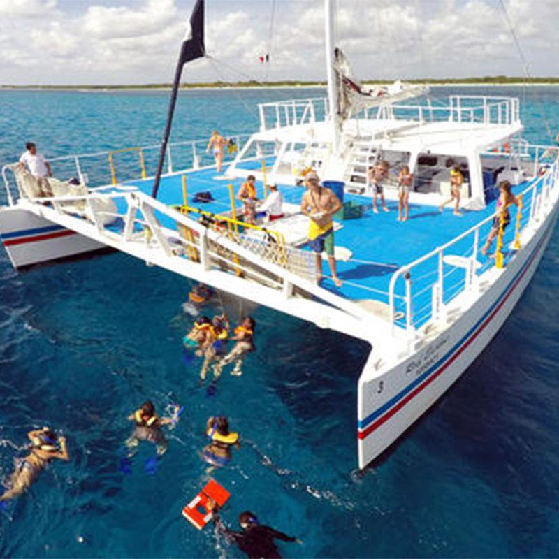 Cozumel Catamaran Snorkel Beach Party